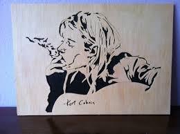 kurt cobain nirvana wooden portrait scroll saw 16