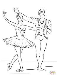 nutcracker ballet coloring printable pages ballerina sheets