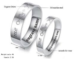 steel male rings images You me letters rings 316l stainless steel promise rings for jpg