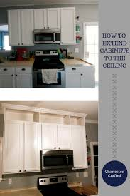 how to extend kitchen cabinets to the ceiling charleston crafted we were extending the crown molding into the kitchen that we put up in the rest of our first floor and wanted to take the time to add