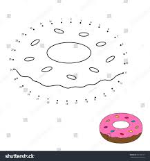 connect dots color worksheet game kids stock vector 691102117