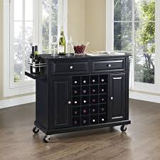 birch wood honey raised door kitchen island wine rack backsplash