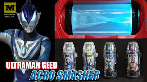 acro smasher set ultraman geed dx geed riser review youtube