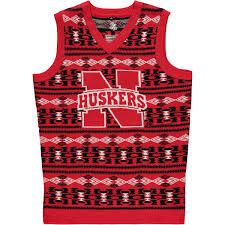 sweater vest s scarlet nebraska cornhuskers aztec sweater vest