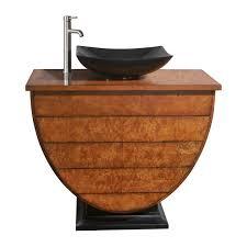 single bathroom vanity with vessel sink silkroad exclusive stone