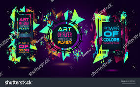futuristic frame art design abstract shapes stock vector 663887086