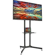 amazon black friday deals tv stand amazon com mount it mi 876 tv cart mobile tv stand wheeled