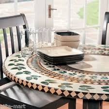 Round Patio Table Covers by Vinyl Fitted Patio Tablecloths Ebay