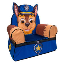 nick jr paw patrol comfy character chair chase spin master