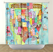 States Of America Map by Map Shower Curtain U2013 Showercurtainhq Com