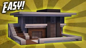 small house minecraft minecraft how to build a small modern house tutorial 9 youtube