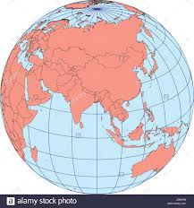 asia globe map globe map centered on asia ortographic projection with graticule