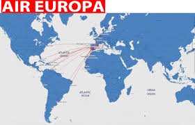 Spirit Route Map by International Flights Air Europa Routes Map