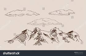rocky highland mountain scenery landscape rocks stock vector