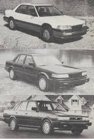nissan maxima vs ford taurus vintage reviews 1987 acura legend nissan maxima and toyota