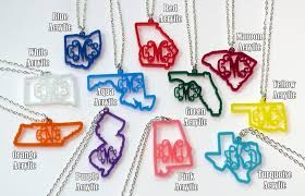 monogram necklace acrylic monogrammed state necklace only 13 99 reg 35 98