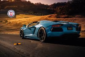 Lamborghini Aventador Spyder - stunning blue lamborghini aventador roadster on hre wheels gtspirit