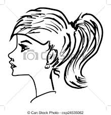 clip art vector of side view hand drawn sketch