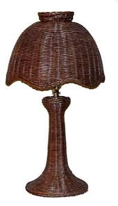 Wicker Table Lamp Tulip Style Small Wicker Table Lamp All About Wicker