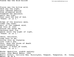 Common The Light Lyrics Book Of Common Praise Song Fierce Was The Wild Billow Lyrics