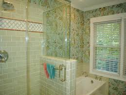glass tile for bathrooms ideas bathroom chic small shower with shape in fashioned