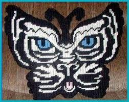 everything plastic canvas white tiger butterfly