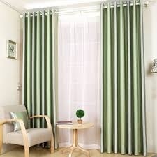 Light Silver Curtains Green Striped Curtains