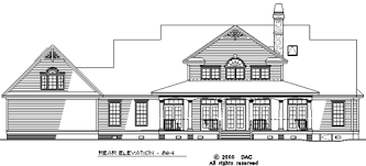 hollyhock house plan rear elevation of the hollyhock house plan number 864 favorite