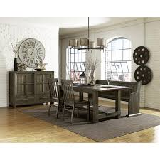 karlin wood rectangular dining table u0026 chairs in dry grey acacia