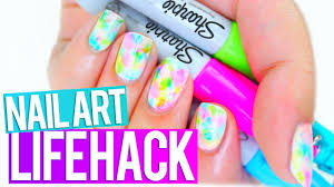 sharpie nail art hack every should know youtube