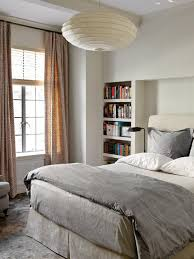 Lights For Bookshelves Bedrooms Contemporary Bedroom With Built In Bookshelf And Paper