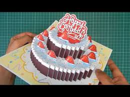birthday cake pop up card 3 original designs youtube diy gifts