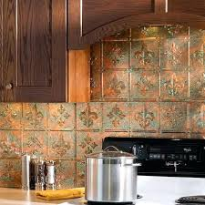 faux kitchen backsplash faux tile backsplash copper tile kitchen ideas great home decor