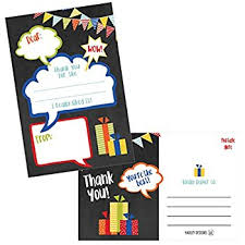 amazon com fill in the blank thank you notes for kids confetti