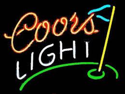 coors light bar sign coors light golf neon beer sign neon pinterest neon beer signs