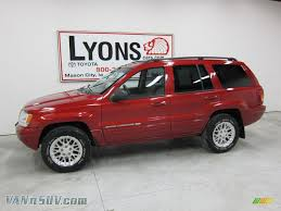 dark gray jeep grand cherokee 2002 jeep grand cherokee limited 4x4 in inferno red tinted