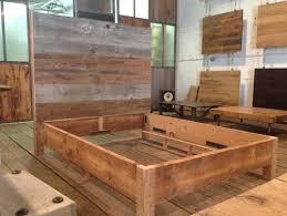 Make Your Own Platform Bed Frame Diy Platform Bed Frame Reclaimed Wood Headboard Attached To A
