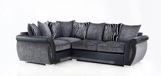 Uk Sofas Direct Corner Fabric Sofas Goulding Right Hand Facing Pillow Back 3