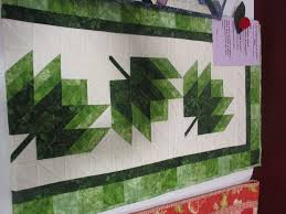 Leaf Table Runner Green Leaves Quilted Table Runner U2014 Made Just For U