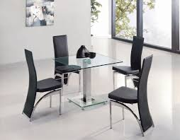 Square Glass Dining Table Dining Room Contemporary Square Glass Dining Room Table With