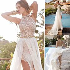 women lace chiffon bridesmaid wedding cocktail party prom gown