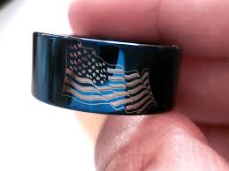 American Flag Price Tungsten Band Engagement Ring Wedding Band Wedding Ring Rings