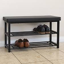 amazon com best choice products 2 tier metal storage bench shoe