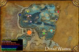 Wow Map Wow Rare Spawns Dread Wastes Rare Champions