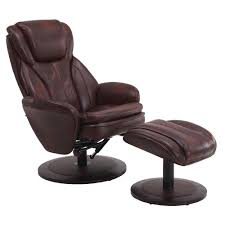 swivel recliner mac motion comfort chair java leather swivel recliner with ottoman