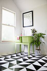 make a patterned floor with linoleum tile a beautiful mess diy