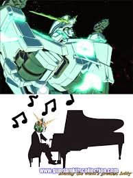 Piano Meme - gundam meme gundam unicorn playing piano gundam kits collection