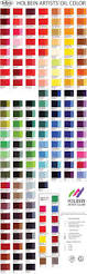 holbein oil colour chart painting color charts pinterest