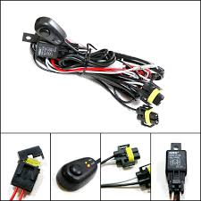 nissan altima 2013 hid fog lights amazon com ijdmtoy 1 h11 h8 relay harness wire kit with led