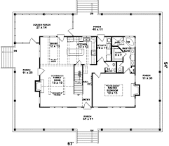 Farmhouse Floor Plan by Farmhouse Style House Plan 3 Beds 2 50 Baths 2200 Sq Ft Plan 81 495